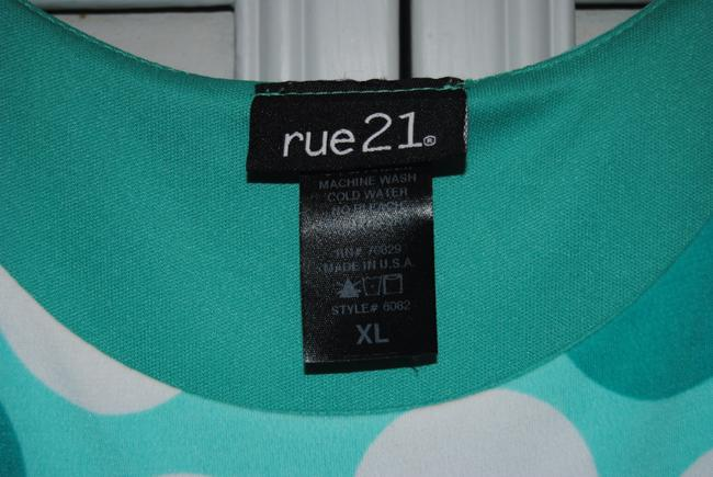Rue 21 Top Teal with Polka Dots