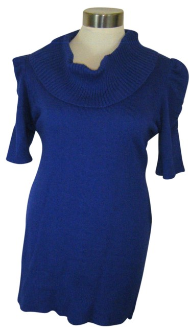 Preload https://img-static.tradesy.com/item/11144326/agb-royal-blue-tunic-or-mini-dress-2x-by-mini-cowl-neck-sweaterpullover-size-22-plus-2x-0-2-650-650.jpg