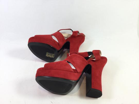 Prada Red Platforms