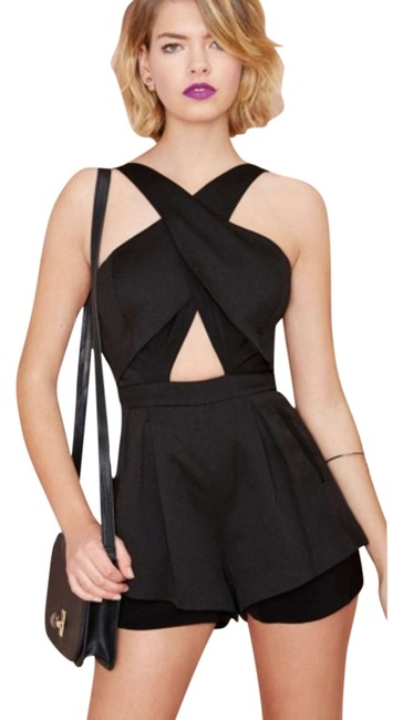 Preload https://img-static.tradesy.com/item/11144854/black-audrey-romper-above-knee-night-out-dress-size-6-s-0-1-650-650.jpg