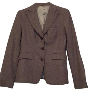 Banana Republic Riding Jacket Tweed Tan Blazer