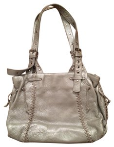 Carlos Falchi Metalic Leather Studded Shoulder Bag