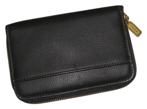 Coach Black Leather Coach Planning Diary Wallet