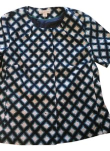 Coldwater Creek Patterned - navy, green, light blue and white Blazer