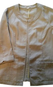 Coldwater Creek Pattern Tan with yellow accent Blazer