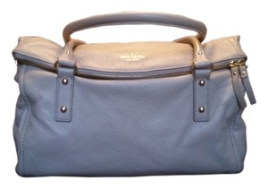 Kate Spade New York Leather Pebbled Cobble Hill Leslie Gold Hardware Gently Used Dust Satchel in Stone