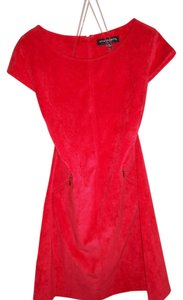 Sharagano short dress Red on Tradesy