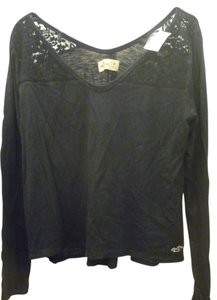 Hollister Lace Longsleeve T Shirt Navy