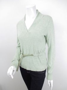 Anthropologie Monogram Hwr Elbow Patch Belted Shawl Neck Sweater