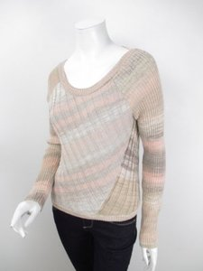 Free People People Ribbed Patchwork Wool Blend Slim Fit Sweater