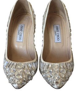 Jimmy Choo White with crystals Pumps