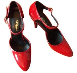 Les Copains Patent Leather Made In Italy Stiletto Red Pumps