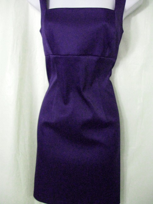 Laundry by Shelli Segal Backless Fitted Knee Length Sheath Polyester Spandex Blend Dress