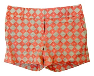 Ann Taylor LOFT Spring Bright Formal Dress Shorts Beige & Coral