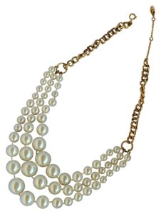 Ann Taylor Pearl Triple Necklace