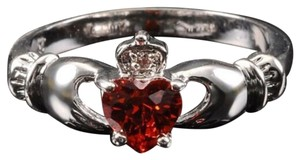 Other BNWOT ~ Red Claddagh and CZ Gemstone Ring, Size 8