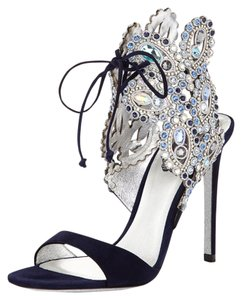Rene Caovilla Navy Blue Sandals