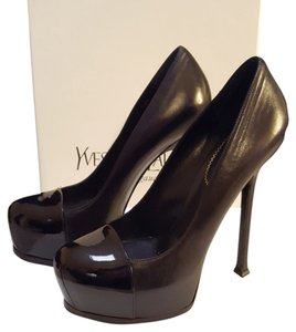 Saint Laurent Ysl Stiletto Platform Black Pumps
