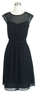 J.Crew Chiffon Lbd Chevron Dress