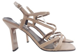 ALDO Strappy Size 8 Leather Beige Sandals