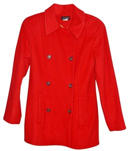 J.Crew Red Double Breasted Coat