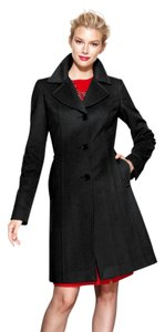 Anne Klein Wool & Cashmere Notched Pea Coat