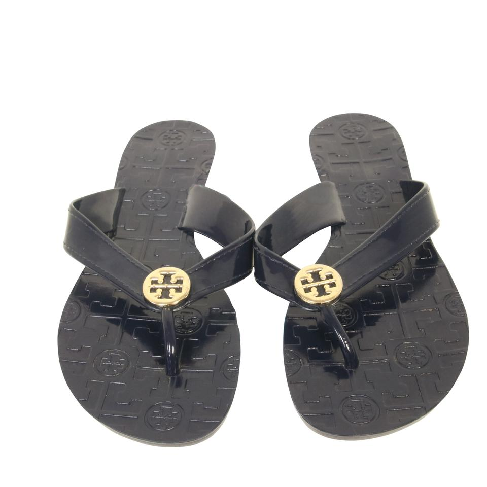 ad73e9175 Tory Burch Dark Blue T Thora Strap Thong Flip Flop Sandals Size US 7 ...