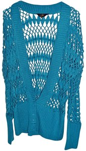 Jack Teal Cardigan Blue Sweater