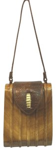 Timmy Woods Vintage Wooden Shoulder Bag