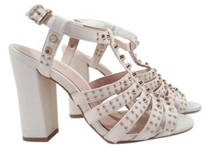 ALDO Chafslya Gladiator Studded Size 8.5 White / Gold Sandals