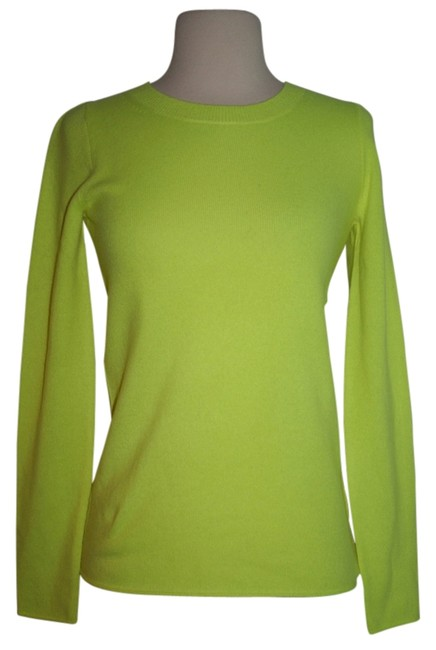 Preload https://img-static.tradesy.com/item/11148574/jcrew-neon-citron-collection-cashmere-long-sleeve-t-shirt-sweaterpullover-size-2-xs-0-2-650-650.jpg
