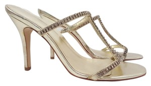 ALDO Rhinestone Strappy Gold Sandals