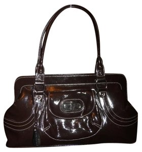 Franco Sarto Faux Leather Satchel in dark brown