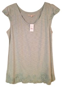 Ann Taylor LOFT Top Dew Green (Pale/Light Green)