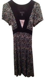 Connected Apparel short dress Black-Multi-Color on Tradesy
