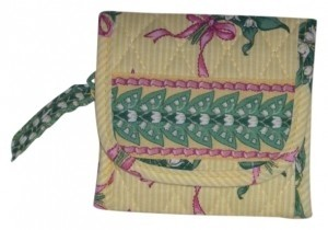 Vera Bradley Pretty Yellow wallet by Vera Bradley in retired Hope pattern.