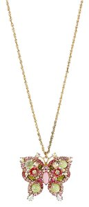 Betsey Johnson 'Spring Glam' Sparkling Butterfly Pendant Necklace, B08929