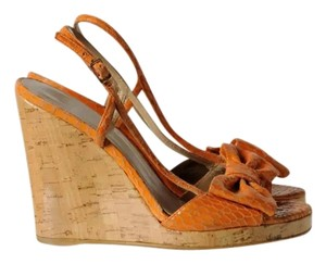 Stuart Weitzman Orange Wedges