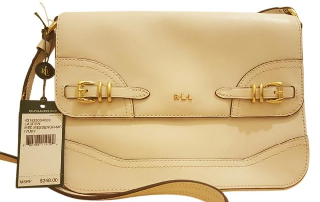 Item - Messenger Equestrian Monogram Classic Style New With Ivory Leather Cross Body Bag