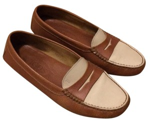 Tod's Brown, white Flats