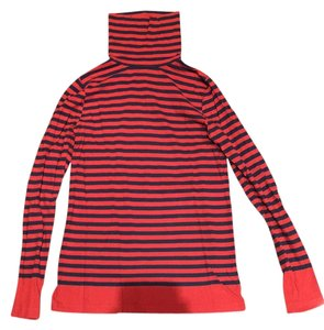 J.Crew Striped Turtleneck Holiday Winter Comfortable T Shirt Red