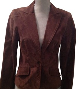 Context Short Brown suede Blazer