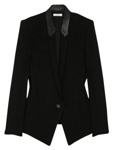 Helmut Lang Leather Trim Black Blazer