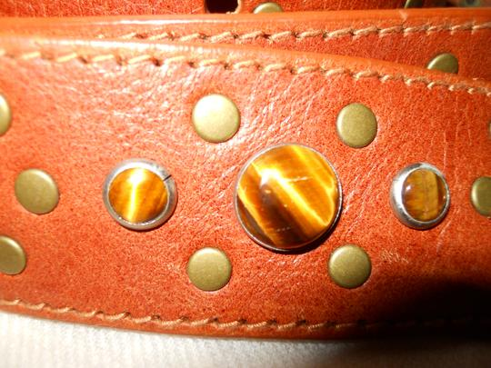 Michael Kors XL studded tigers eye leather