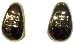 Givenchy Givenchy Paris New York Huggie Gold Tone Earrings
