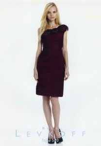Bill Levkoff Eggplant Bl 570 Dress