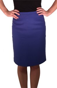 J.Crew Wool Pencil Factory Skirt Blue