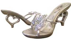 Summer Rio Rhinestone Bow clear & sliver Sandals