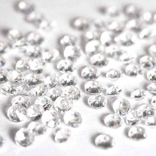 Clear - 20000x 4.5mm 1/3 Ct Acrylic Diamond Scatter Confetti Centerpieces Table Top Decor Vase Filler Aisle Runner
