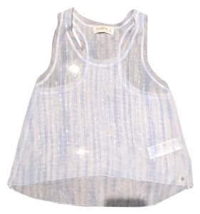 Abercrombie & Fitch Racerback Sparkle Beaded Top Blue